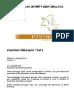 Eventing Dressage Tests NZ