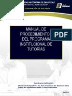Manual de Procedimientos Tutoría 2014