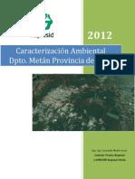 Caracterizacion Agroambiental METAN
