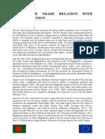 BANGLADESH TRADE RELATION WITH EUROPIAN UNION.docx