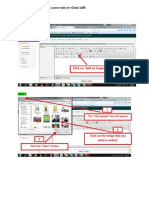 Embedding an Image on a Post Reply on IClass LMS