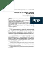 Reforma Del Sistema de Pensiones en Venezuela
