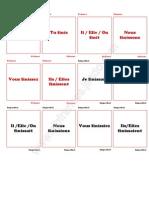 conjugación de verbo finir en francés