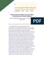 Entrevista de Olavo de Carvalho à Revista Do Clube Militar