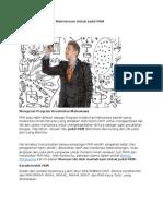 Cara Mencari Ide Anti Mainstream Untuk Judul PKM