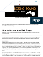 How to Borrow from Folk Songs
