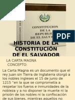 1 Historia de La Constitucion de El Salvador