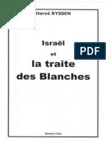 Lsraël Et La Traite Des Blanches