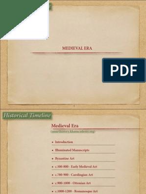 MEDIEVAL ERA pdf | Codex | Middle Ages