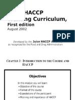 Juice HACCP Training Curriculum