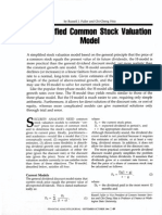 RusselJ. Fuller and Chi-Cheng Hsia a Simplified Common Stock Valuation Model