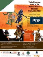 Balinese Wayang Listrik Flyer & TYA Upcoming Shows