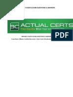 VCAD510VMware Certified Associate - Data Center Virtualization (VCA-DCV) Exam 2014-12-17