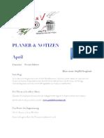 Ihr Planer für April