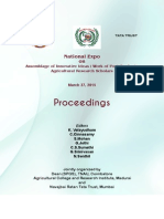 National Expo on Assemblage of Innovative Ideas / Work of Post Graduate Agricultural Research Scholars