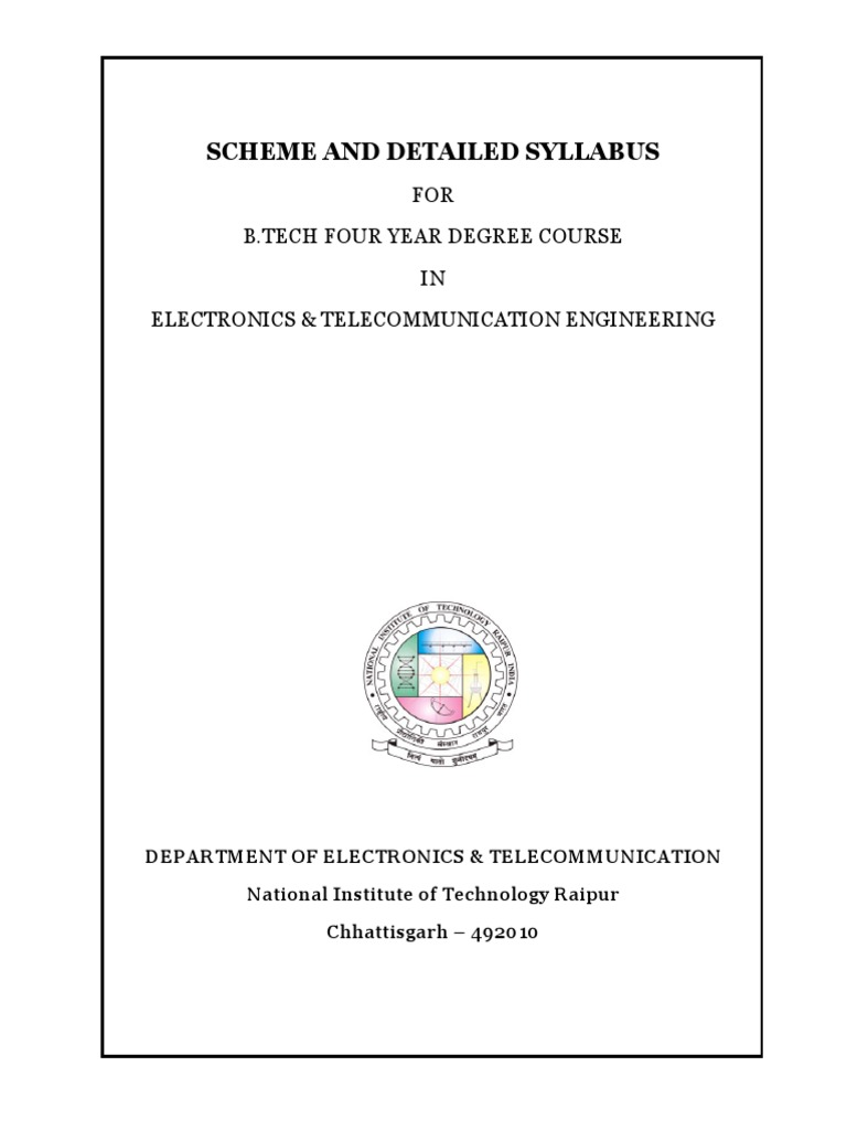 Ece Nitrr Syllabus Operational Amplifier Amp Circuits Op Ic Integrated Circuitsdigital Analog