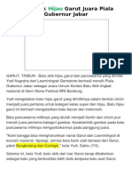 Batu Akik Hijau Garut Juara Piala Gubernur Jabar
