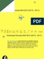 Horoscopo Escorpio Para Abril 2015