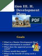Master Development Plans