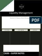 72856508 CAIIB Super Notes Bank Financial Management Module D Balance Sheet Management Liquidity Management