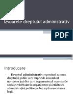 Izvoarele dreptului administrativ