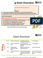 Aptis Writing Exam Overview - Handout for Teachers
