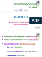 BUS 201 - 6 - Directness in Good News