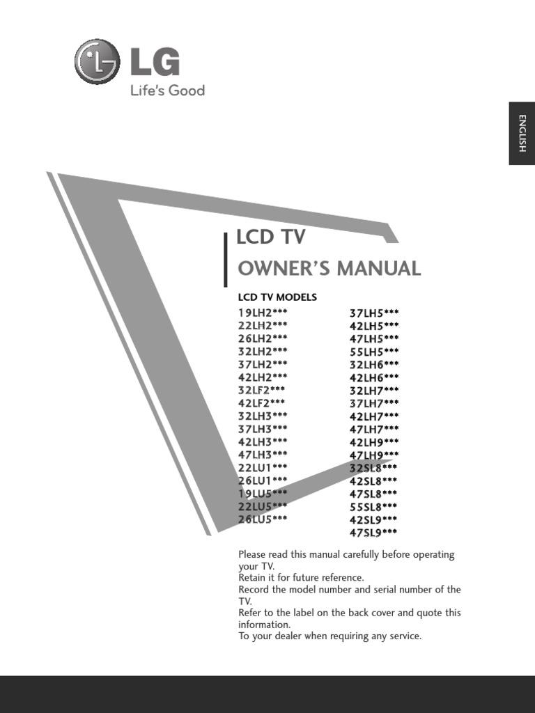 lg lcd tv manual hdmi electrical connector rh scribd com