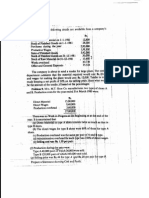 Cost Sheet Problems 120115