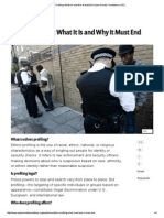 Ethnic Profiling ~ What It Is and Why It Must End