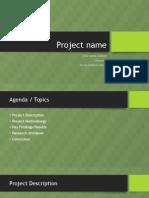 Presentation sample for Project