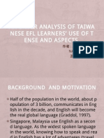 An Error Analysis of Taiwanese EFL Learns'.pptx