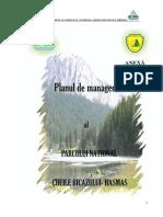 Planul de Management Al Parcului Naţional Cheile Bicazului- Hăşmaş