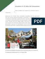 Un Relato Del Encuentro a 10 Años del comunismo libertario en Chile