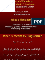Plagiarism Presentation Muhammad Sajideen