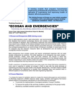 Course Details of  Ecosan and Emergencies