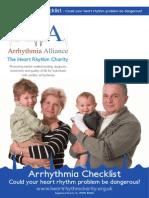 Arrhythmia Checklist