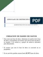 Lenguaje de Definición de Datos-creacionBD