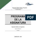 Programa Asignatura EGI Mecanica 13-14