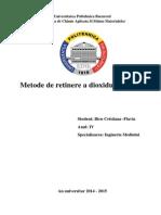 Metode de retinere a dioxidului de sulf