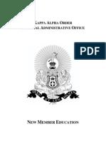 2011 New Member Education Manual