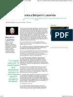 entrevista a Benjamin Lacombe en rev ambito cultural