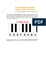 How to Form Major and Minor Pentatonic Scales on Piano