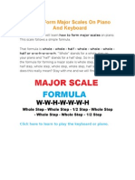 How to Form Major Scales on Piano and Keyboard