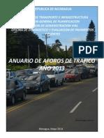 MTI Nicaragua Anuario de Tráfico 2013
