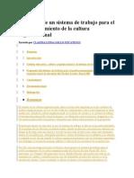 Propuesta de Un Sistema de Trabajo Para El Perfeccionamiento de La Cultura Organizacional