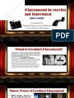 product placement in moveis and television