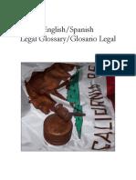 Glosario Legal Ingles Espanol