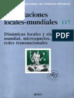"""Revista Internacional de Ciencias Sociales no. 117, """"Las Relaciones Locales Mundiales"""" (UNESCO)"""