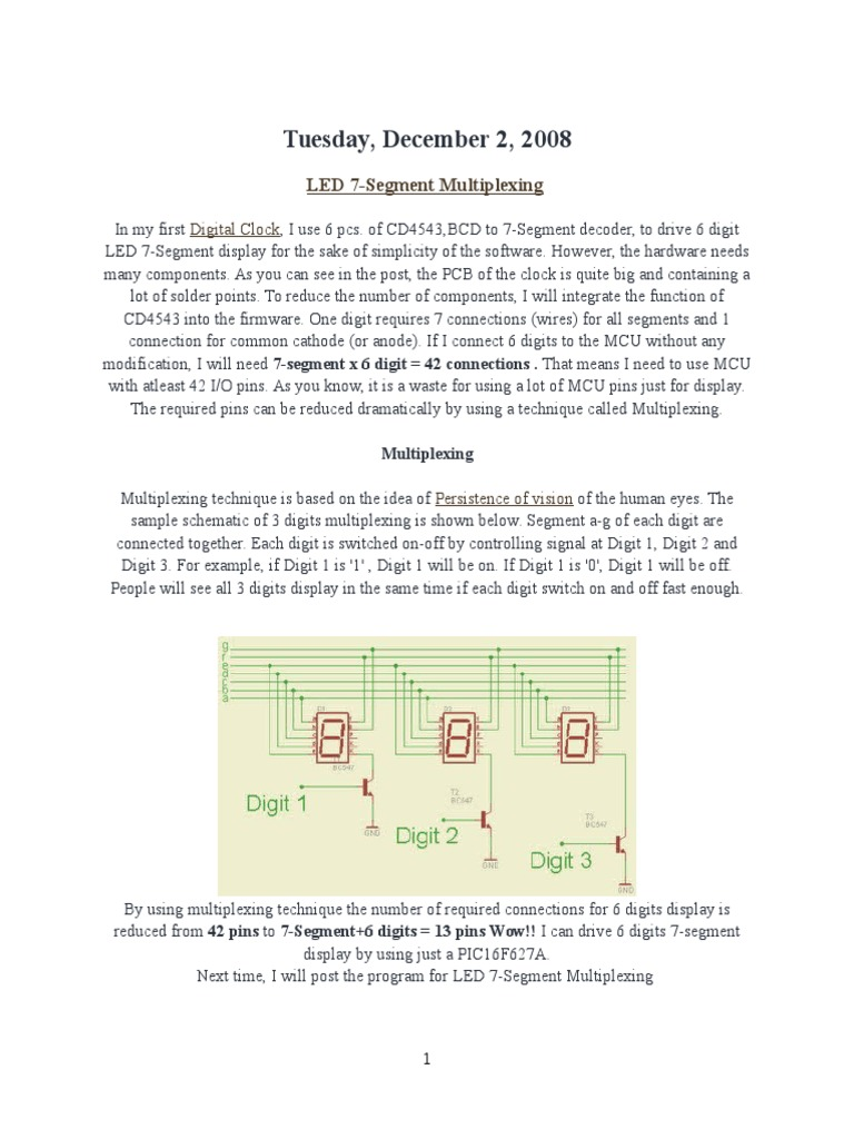 Tutorial 1docx Microcontroller Digital Electronics Blinking Led Using Pic Mikroc Pro